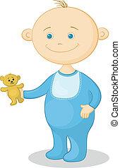 Baby with a teddy bear