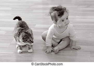 Baby with animal