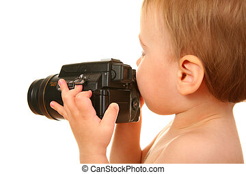 baby with camera 2