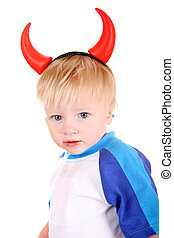 Baby with Devil Horns - Baby Boy with Devil Horns on the ...
