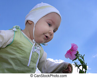 Baby with flower