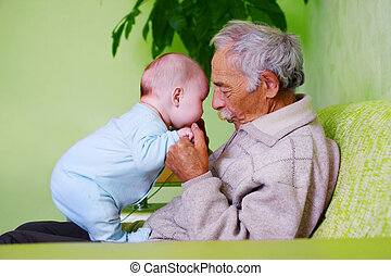 baby with grandpa