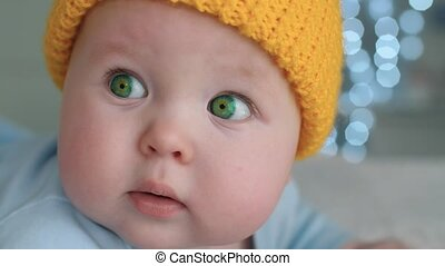 Baby with green eyes