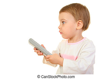 baby with remote control
