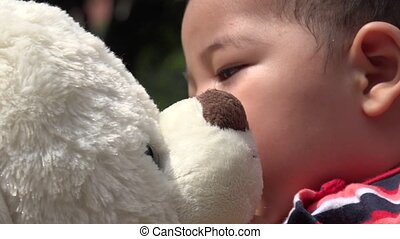 Baby With Teddy Bear, Infant, Plush