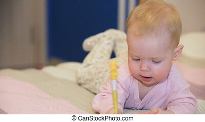 Baby with thermometer