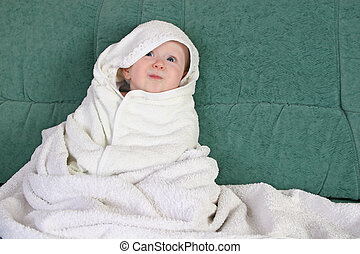 baby with towel
