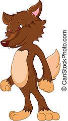 baby wolf cartoon illustration
