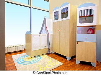 babykamer, kamer