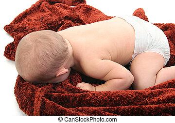 babyluier, slaap, baby
