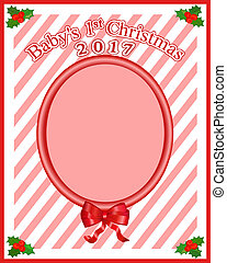 Baby's 1st Christmas Photo Frame or Card - This frame has...