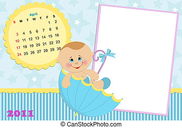 Baby's calendar for april 2011