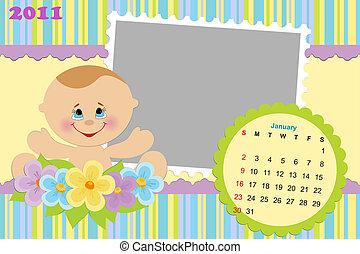 Baby's calendar for january 2011
