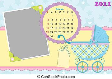 Baby's calendar for october 2011