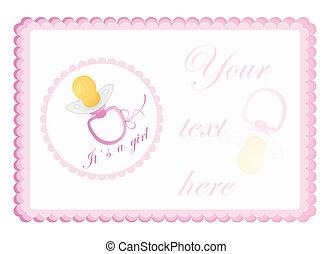 baby`s, cartolina auguri