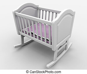Baby's crib - Rocking crib for new born baby girl