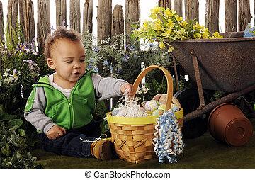 Baby's Easter Garden