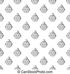 Babys face seamless pattern