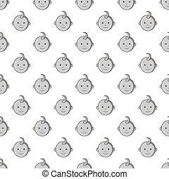Babys face seamless pattern