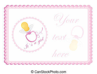 baby`s greeting card