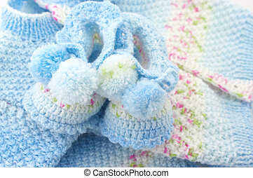 Baby's knitted clothes