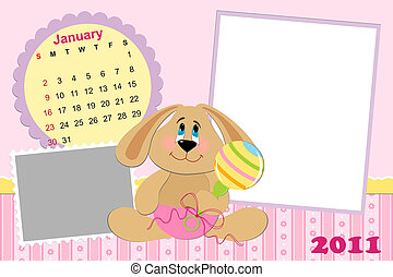 Baby's monthly calendar for january 2011's