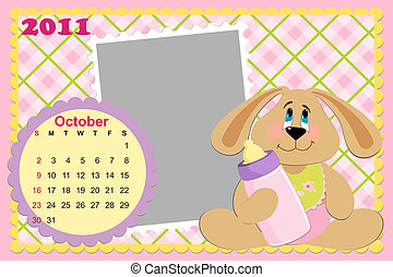 Baby's monthly calendar for october 2011's