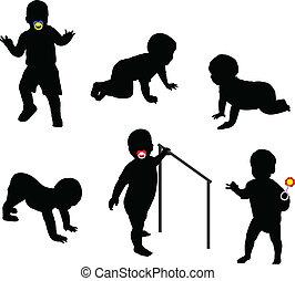babys, silhouetten