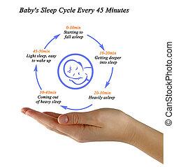 Baby's Sleep Cycle Every 45 Minutes