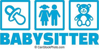 Babysitter icons