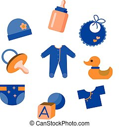 babyspeelgoed, set, kleding