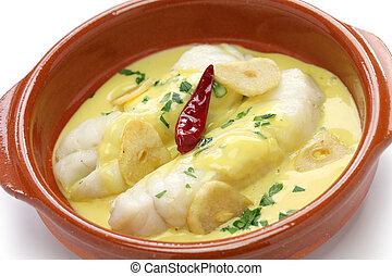 bacalao al pil pil, spanish cuisine