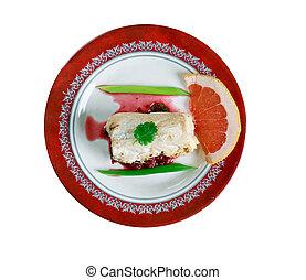 Bacalao confitado con salsa verde - cod fish gourmet.