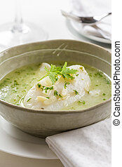 Bacalao en aceite, cod fish dish from the basque region in ...