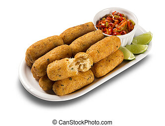 bacalao, sal, fritters.
