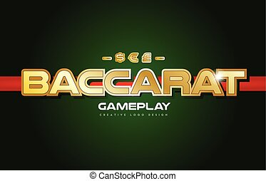 baccarat word text logo banner postcard design typography -...