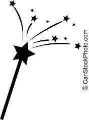 bacchetta magica, stelle