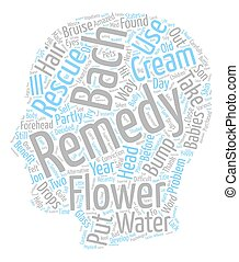 Bach Flower Remedies To The Rescue text background wordcloud concept