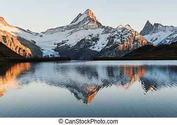 bachalpsee lac, alpes suisses