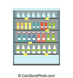 bacheca, frigorifero, bibite