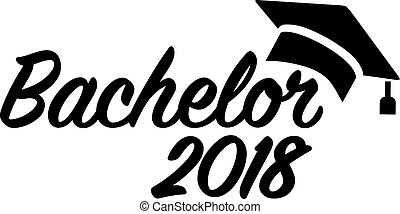 Bachelor 2018 mortarboard - Bachelor graduation 2018 with...