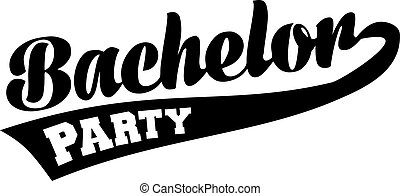 Bachelor party retro font