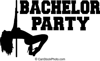 Bachelor party with poledancing girl