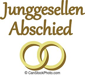 Bachelor party with wedding rings german