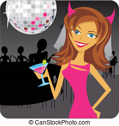 Bachelorette - A cute bride to be at her bachelorette party...