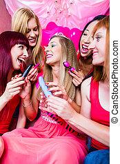 bachelorette, notte, sesso, club, giocattoli, festa,...