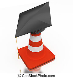 Bachelor\'s hat and cone