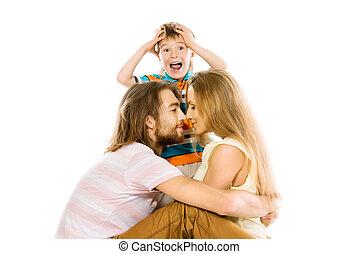 baciare, genitori