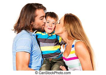 baciare, uno, figlio