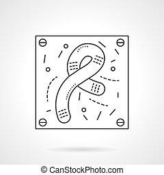 Bacilli icon flat line design vector icon - Bacteria and...